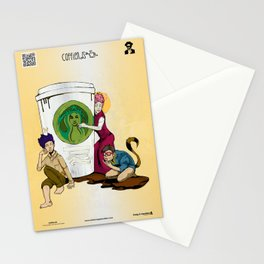 Caffiends: The Aficionado, the Cat, and the Spaz Stationery Cards