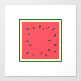 Square Fruit - Watermelon Canvas Print