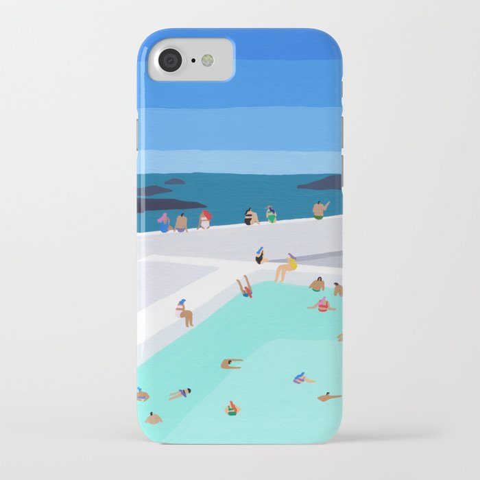 Santorini sun iPhone Case