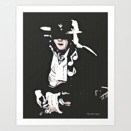 Caught In The Crossfire - SRV - Graphic 3 Art Print