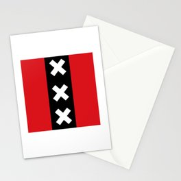 Vertical Amsterdam Flag  Stationery Cards