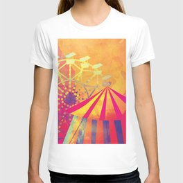 The Fair is in Town - Kitschy Abstract Watercolor T-shirt