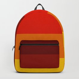Multicolor Retro Strips Backpack