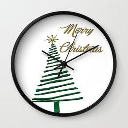 Merry Christmas Tree Wall Clock