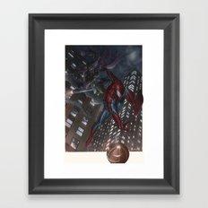 Spiderman vs Goblin Framed Art Print