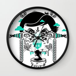 evilcat by s-fly Wall Clock