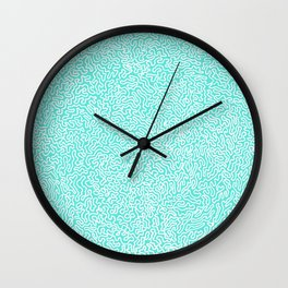 Mint Roots Wall Clock