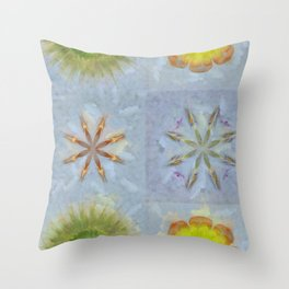 Confusingly Trance Flower  ID:16165-092126-35290 Throw Pillow