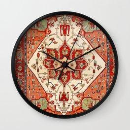 Serapi Azerbaijan Northwest Persian Rug Print Wall Clock