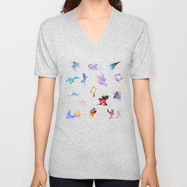 final fantasy logo pattern Unisex V-Neck