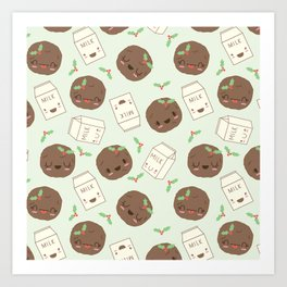 Cute Cookies and Milk for you! Art Print