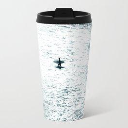 Lone surfer - slate Travel Mug