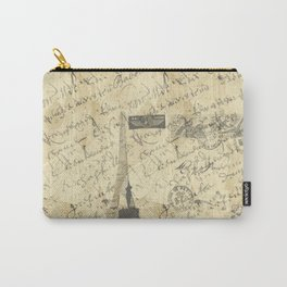 Parisian French Script Carry-All Pouch