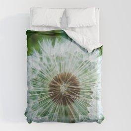Dewy Dandelion Seeds Photography Print Comforters