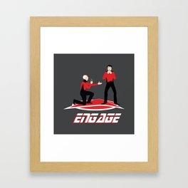 Long Trek to Forever Framed Art Print