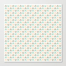 Pattern: Olive + Peach Arrows Canvas Print