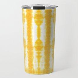 Yellow Tiki Shibori Travel Mug