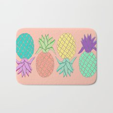 pineapple large coral Bath Mat