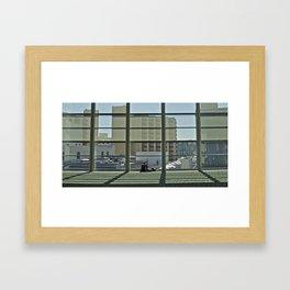 A window and a geek Framed Art Print