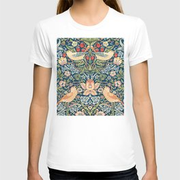 The strawberry thieves pattern by William Morris. British textile art. T-shirt