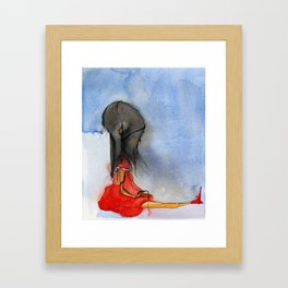 """A Cerebral Hemorrhage Due to a Bamboo Heart "" Framed Art Print"