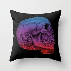 Rainbow Skull Joy Throw Pillow