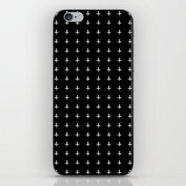 White Crosses Halloween Pattern | Minimalism iPhone Skin