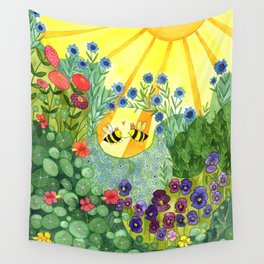 Bumblee Bee LOVE Wall Tapestry