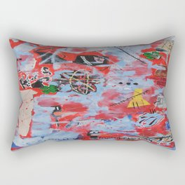 The Wild Ones inspired by Jean-Michel Basquiat Rectangular Pillow