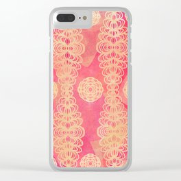 Hot Pink Lace Clear iPhone Case