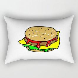 Cheeseburger Doodle Rectangular Pillow