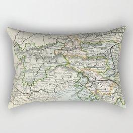 Austria Vintage Map Rectangular Pillow