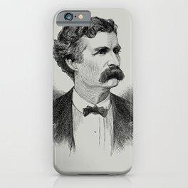 Mark Twain Engraved Portrait - 1870 iPhone Case