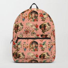 Makers Gonna Make Pattern Pink Backpack