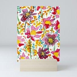 Super Bloom Wildflower Watercolor Mini Art Print