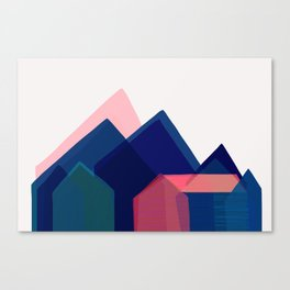 Houses abstract Canvas Print