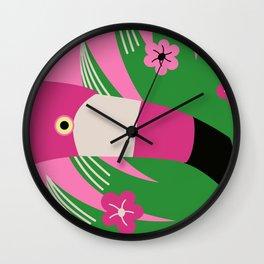 Whimsical Flamingo Wall Clock