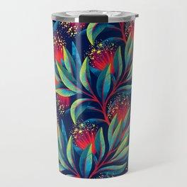 Pohutukawa - Red / Green Travel Mug