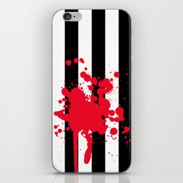 Black and White and Red All Over iPhone Skin