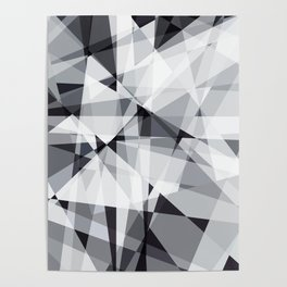 black and white multipolygon Poster