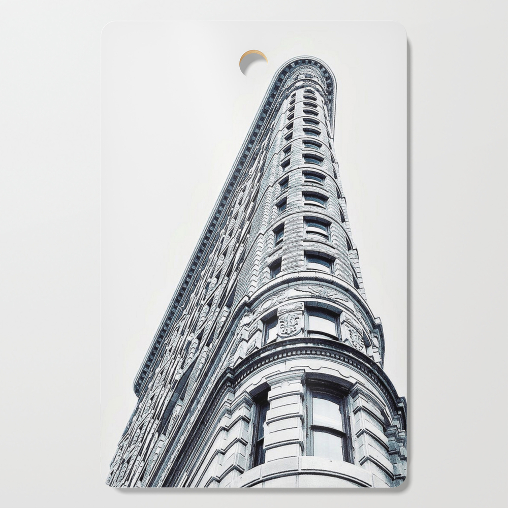 Flatiron Building - 175Th Street, Ny, Ny Black And White Photographic Print Cutting Board by providenceatheneumarts