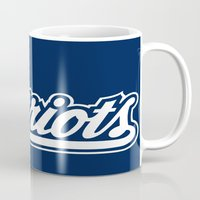 patriots Mugs featuring Patriots Logo  by Happy Positivity