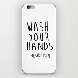 Wash Your Hands Bathroom Print Bathroom Decor Nursery Print Nursery Quote So Fresh And So Clean iPhone Skin