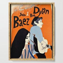 Vintage 1965 Bob Dylan in Concert Poster Serving Tray