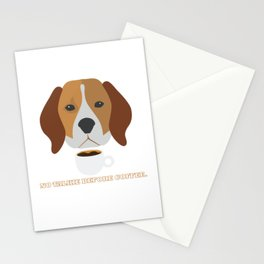 No Talkie before Coffee Pet Funny Cute Caffeine Dog Lovers Tee Stationery Cards