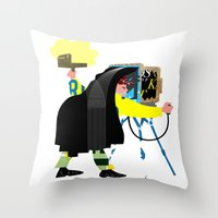 photographer Throw Pillows featuring Photographer by Design4u Studio
