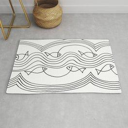 Fish and Waves Rug