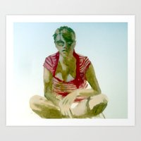 sunglasses Art Prints featuring sunglasses by Farthan