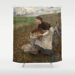 Jules Bastien Lepage - October, 1878 Shower Curtain
