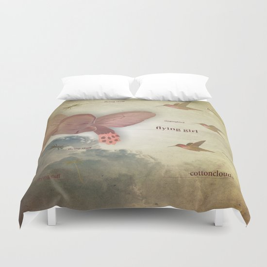 flying girl Duvet Cover